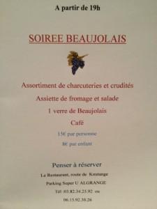 le Restaurant vous propose une soirée Beaujolais le jeudi 15 novembre.. img_0059-225x300